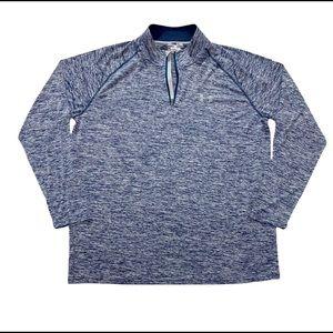 Under Armour Men's 1/4 Zip Blue Loose HeatGear Activewear Pullover XL